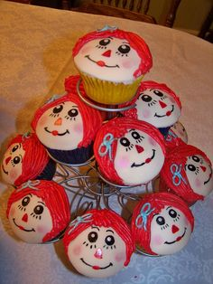 Raggedy Ann Cupcakes by CAKES BY LAUREN, via Flickr