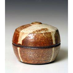 Phil Rogers (shino glazed, overglaze on the lid)