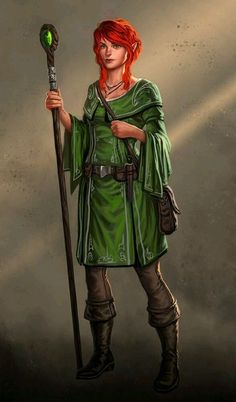 f Half Elf Druid Leather Staff lwlvl Faelih Dark Fantasy, Fantasy Rpg, Medieval Fantasy, Fantasy Girl, Fantasy Portraits, Character Portraits, Fantasy Artwork, Character Art, Character Ideas