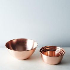 These copper nesting bowls from the Food52 Shop are both practical AND shiny.