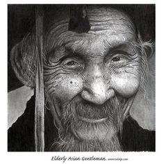 Beautiful elderly Asian gentleman.