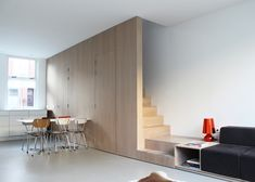 A small house redesign in Leiden, South Holland, that features a multifunctional staircase. See more at http://humble-homes.com/small-house-renovation-8a-architecten/