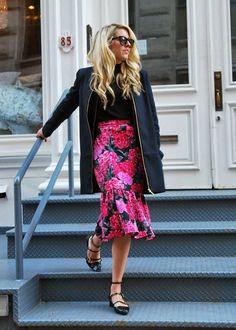 Modest Spring Floral Skirt
