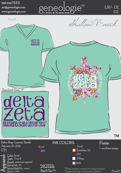 Delta Zeta v-neck