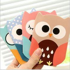 New Cute Owl design Kraft paper Mini tally book/pocket notebook/blank Inner Pages/School office supplies GT034
