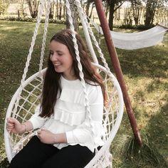 Fall vibes by Johanne Appel 🍂 #fall #autumn #outfit #white #hair #girl #garden #inspiration #fashion #bohemian #crochet #hangingchair #boho #chic #bohochic #rustic #bohemianroom #bohemianhouse