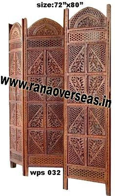 Wooden Partition Screen For those that appreciate unique style folding screens,our hand carving abstract dividers may be a consideration.Wooden Partition Screen, Room dividers are often used in commercial offices or homes to seperate rooms or to block light. Developed from high quality sheesham wood and these partitions stand only in zig zag position. Wooden room divider screens are very popular.Deciding on the right wood folding screen is simply a matter of personal taste.