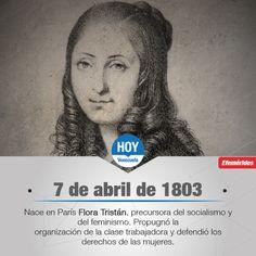 #UnDíaComoHoy nace en París Flora Tristán, precursora del socialismo y del feminismo.