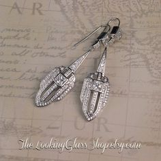 Kate Middleton  Inspired Art Deco Earrings by TheLookingGlassShop