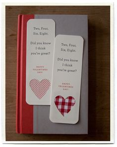 Valentines Bookmark Cards