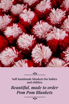 Soft Pom Pom #blanket for a #baby