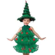 Rockin Around The Xmas Tree : Christmas Tree Themed Dance Costume Christmas Trees For Kids, How To Make Christmas Tree, Xmas Tree, Christmas Crafts, Christmas Scenes, Christmas Tree Halloween Costume, Cute Costumes, Christmas Costumes, Costume Ideas