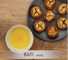 दाल बाटी और चूरमा कैसे बनाते है? How to make Dal Bati in appe pan In Hindi?   With Photo   Dal Bati Recipe, Fish Curry, Clarified Butter, Chutney Recipes, Indian Sweets, Garam Masala, Curry Recipes, Food Videos, Rolls