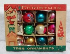 Vintage Fantasia Brand Mercury Glass Christmas Ornaments Indent Teardrop Indents: Everything Else