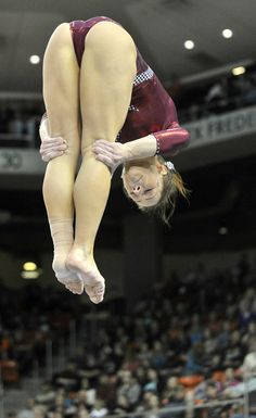 Alabama's Sarah DeMeo performs on the beam during Auburn's NCAA gymnastics meet with Alabama, 2014 Amazing Gymnastics, Gymnastics Videos, Gymnastics Photography, Gymnastics Pictures, Sport Gymnastics, Artistic Gymnastics, Olympic Gymnastics, Gymnastics Problems, Acrobatic Gymnastics