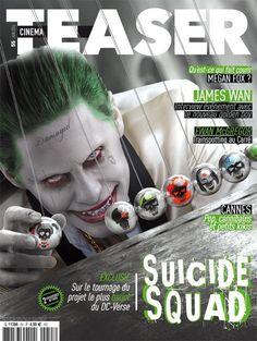 Esquadrão Suicida   Coringa aparece assustador em nova capa de revista   Omelete