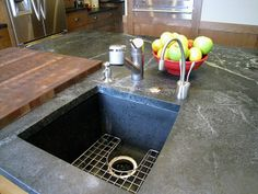 Soapstone countertop with Blanco Silgranit prep sink if soapstone sink doesn't work