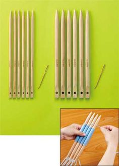 WEAVING STICKS- buy some like these or make your own with dowels.