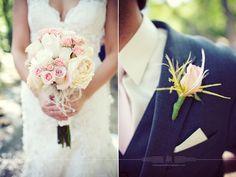 Feathers in flower bouquet  Rachel+Jeremy | married | Avon, IN wedding photography » Indianapolis wedding photographer | Indiana photographer Lemongrass Photography @lemongrassphoto
