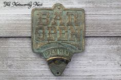 A personal favorite from my Etsy shop https://www.etsy.com/listing/385776184/cast-iron-bottle-opener-vintage-style