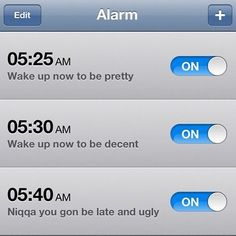 I should do this so I actually wake up in the morning.