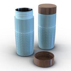 3D Travel Mug Blue Model - 3D Model