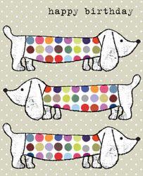 dog, birthday card, greetings card
