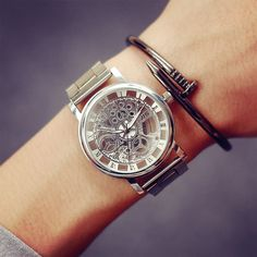 2017 New Fashion JIS Watch Gold Color Mens Watches casual Top Brand Luxury Hot Selling Ladies Watch Steel Women Dress Watches #Affiliate