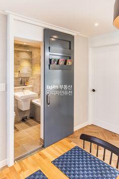 55 Trendy french door bathroom dream homes Diy Barn Door, Diy Door, Garage Door Trim, Laundry Doors, Exterior Door Colors, Double Sliding Barn Doors, Interior Design Classes, Barn Door Designs, Secret Rooms