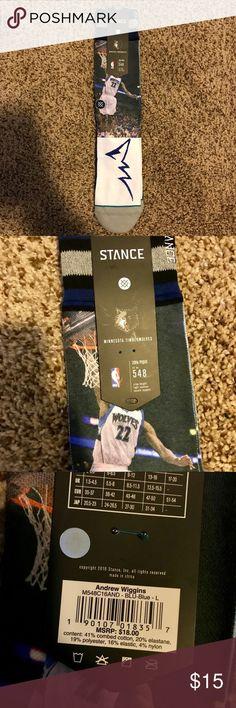bdf223699 NWT - Stance NBA Minnesota Timberwolves Socks NWT - Stance NBA Minnesota  Timberwolves Socks Andrew Wiggins