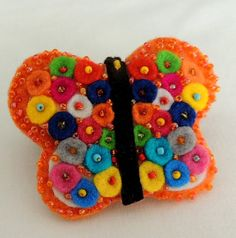 Felt Brooch, Birthday Gift, Felt  Butterfly, Felted Brooch, Felt Jewelry, Felted Jewelry, Boho Brooch, Felt Decor, Felt Jewellery, Butterfly
