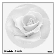White Rose Wall Decal #Rose #Flower #Decal