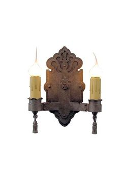0623e6499 Rochelle Double Candle. Candle SconcesWall SconcesInterior LightingWrought  IronLamp ...