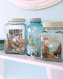 treasures from a trip in mason jar