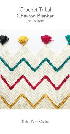 Free Pattern - Crochet Tribal Chevron Blanket