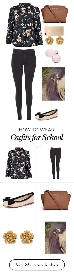 """back to school (Raquel)"" by briquel13287 on Polyvore featuring Boohoo, Maison Scotch, Human Premium, Michael Kors and Miriam Haskell"