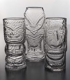 Glass Tiki Mugs by Andrew Iannazzi: Art Glass Drinkware available at www.artfulhome.com
