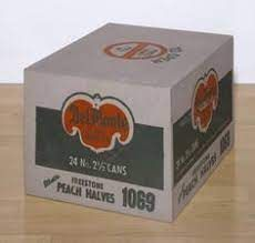 Del Monte, 1964 Andy Warhol Andy Warhol Marilyn, Aesthetic Objects, But Is It Art, Canned Peaches, Architecture Board, Art Studies, Looking Up, Painting On Wood, Cardboard Boxes