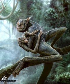 Alien Creature Artwork by Ken Barthelmey
