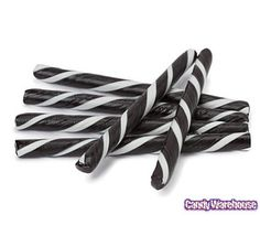 Old Fashioned Hard Candy Sticks - Licorice: 80-Piece Box