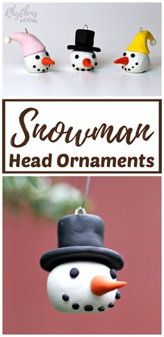 DIY Snowman Ornaments - Here's a fun craft project for you and your kids to comp. DIY Snowman Ornaments – Here's a fun craft project for you and your kids to complete this holiday season. Christmas Crafts For Kids To Make, Christmas Ornaments To Make, Christmas Activities, Simple Christmas, Kids Christmas, Holiday Crafts, Fun Crafts, Diy Snowman, Snowman Ornaments
