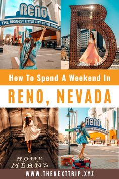 Your ultimate guide to spending the perfect weekend in Reno. Here are all the things to do in Reno, the best street art, most instagrammable murals, best Reno photo spots, and the 4 best day trips from Reno. Reno travel guide | Reno Instagram Spots | Reno Photography | Reno Arch | Nevada Travel Guide | Nevada Photography