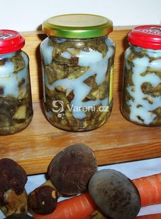 Houby v tuku Mason Jars, Mason Jar, Glass Jars, Jars