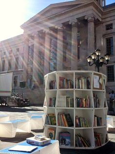 The Uni Project is a simple idea: bring places for books and reading into the streets, parks, and plazas of New York City. Funded by a Kickstarter Campaign, the project's mission is to make learning accessible by bringing pop-up reading spaces into places where people gather