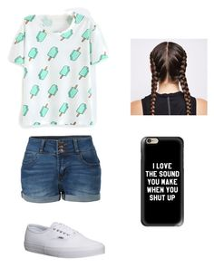 """""""Untitled #4"""" by alyssajwhaley ❤ liked on Polyvore featuring LE3NO, Vans and Casetify"""
