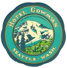 Hotel Cowman, Seattle Washigton by Art of the Luggage Label, via Flickr