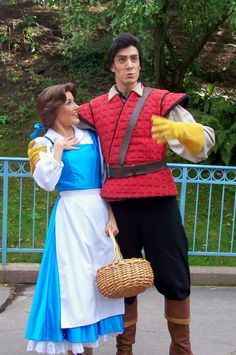 Gaston and Belle in Disneyland