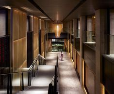 Located along the banks of the Kamo River in Japan, The Ritz-Carlton, Kyoto features luxury hotel accommodation, four restaurants and a tranquil spa. Hotels And Resorts, Best Hotels, Corridor Design, Corridor Ideas, Hotel Corridor, Spa Interior, Interior Design, Carlton Hotel, Japanese Modern