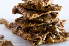 I think everyone enjoys a little seasonal munching on pumpkin seeds, but I'd have never thought to make brittle with them in it. What a tasty-looking idea!