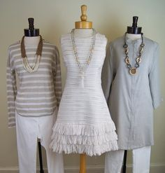 Elliot Lauren top and pants, Sail to Sable Dress and Lisi Lerch necklace, Luii jacket and Tribal pants